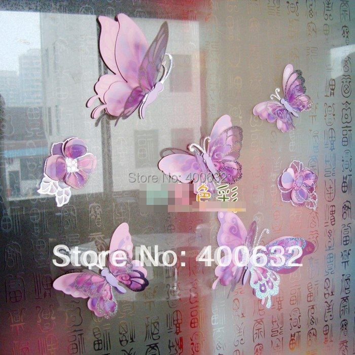 Diy Wall Art Butterflies : Free shipping new removable d wall stickers home decals