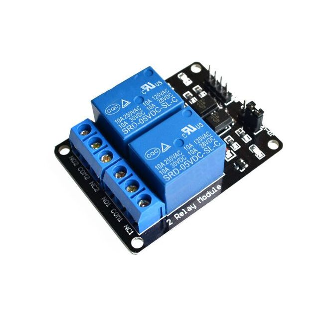With optocoupler 2 channel 2-channel relay modules relay control panel PLC relay 5V two way module