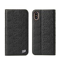 Genuine Leather Cover For IPhone 8 Real Leather Top Layer Crocodile Flip Wallet Cover For IPhone