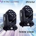 LED 7x40w moving head dj lights rgbw wash zoom dmx512 контроль 15/29ch высокая яркость для освещения клубного сценического освещения вечеринки диско