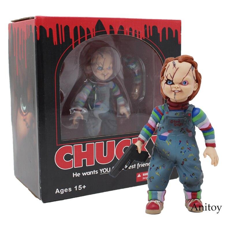 Kind Spielen Braut von Chucky 1/10 Skala Horror Puppe Chucky PVC Action-figur Spielzeug 12 cm