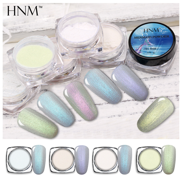 Hnm 1g Holographic Powder Dust Dipping Nails Pigment Glitters Acrylic Sliver Nail Art Glitter
