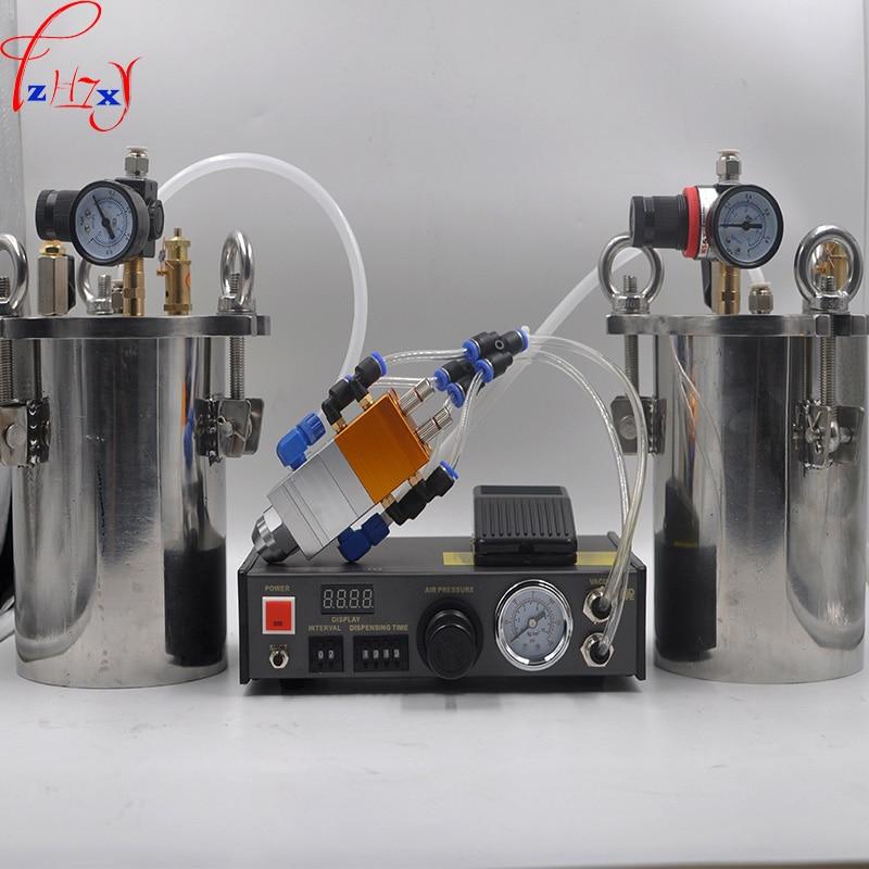 MY-2000 Doppia liquido dispenser AB macchina di riempimento automatico 5L pressione in acciaio inox barile barili di pressione in acciaio al carbonio