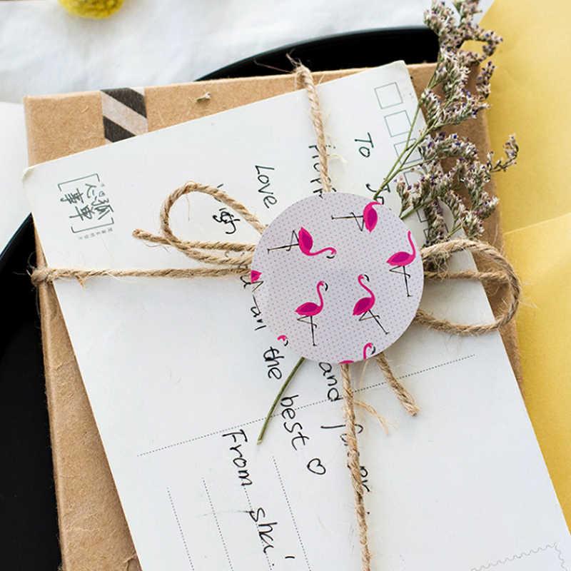 Verkauf 45 teile/schachtel Dicht Paste Foto Aufkleber Nette Flamingo DIY Tagebuch Decor Aufkleber Scrapbooking Hochzeit Festival Lieferungen