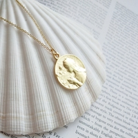 Virgin Mary prayer necklace pendants 925 sterling silver gold color simple wild portrait necklace women pendants fine jewelry