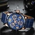 Мини часы Focus для мужчин 2020 модные роскошные брендовые кожаные военные спортивные часы для мужчин водонепроницаемые хронограф Relogios