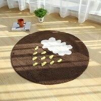 PAYSOTA כותנה טהורה ילדי Cartoon רך שטיח עגול גשם ענן זוחל מחצלת אנטי להחליק