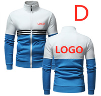 D New Print Logo Hoodies For Men's Patchwork Jackets Hip Hop Long Sleeve Sunscreen Jackets Coats Male Sports Streetwear Clothes