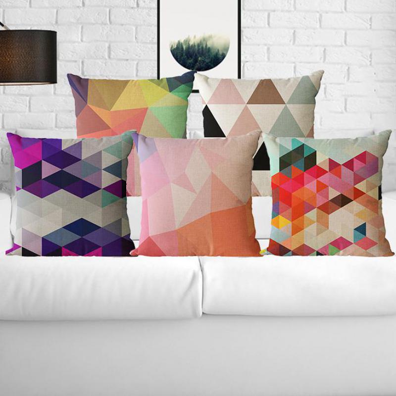 Hersteller Grosshandel Massgeschneiderte Moderne Einfache Farbe Muster Kissen Sofa Brostuhl Geometrische Fr WohnkulturChina