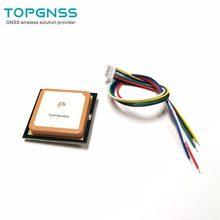 Módulo 3.3-5 v ttl uar GN-801 gps glonass módulo duplo m8n gnss antena receptor, flash embutido, nmea0183 fw3.01