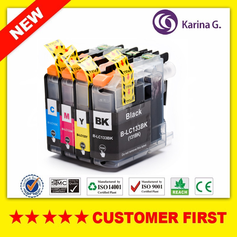 Compatible Ink Cartridges for LC133 LC131 For Brother Printer  MFC- J245 J470DW J475DW J650DW J870DW Inks Set for OceaniaCompatible Ink Cartridges for LC133 LC131 For Brother Printer  MFC- J245 J470DW J475DW J650DW J870DW Inks Set for Oceania