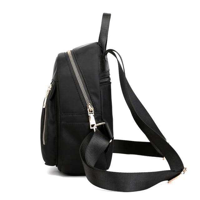 Fashion Nylon Small Backpack Women Waterproof Flower Travel Multi-function Beach Soft Shoulder School Bag Bagpack 1