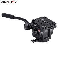 KINGJOY Official VT 3510 Panoramic Tripod Head Hydraulic Fluid Video Head For Tripod monopod Camera Holder Stand Mobile SLR DSLR