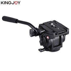 Image 1 - Kingjoy Officiële VT 3510 Panoramische Statiefkop Hydraulische Vloeistof Video Hoofd Voor Statief Monopod Camera Houder Stand Mobiele Slr Dslr