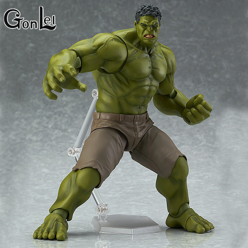 GonLeI Avengers Hulk Figma 271 PVC Action Figure Collectible Model Toy 19cm kids toys avengers movie hulk pvc action figures collectible toy 1230cm retail box