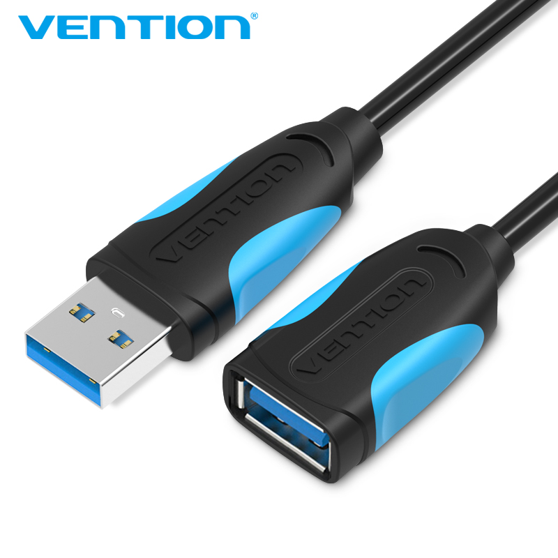 Vention USB Extension Cable USB 3.0 Cable Male to Female USB3.0 2.0 to Extender Data Cord Mini USB Extension Cable 2pcs lot usb 2 0 male to usb male cable cord adapter connector converter extension extender adaptor hy169 2