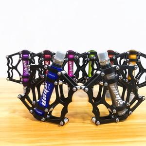 Image 2 - 2019 neue MTB mountainbike pedale Aluminium legierung CNC bike fußstütze großen flachen ultraleicht radfahren BMX pedal