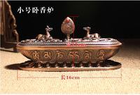 Trumpet Ornaments Copper Incense Burner Incense Buddhism Supplies Incense Burners Aromatherapy Candles Cone Incense Burners