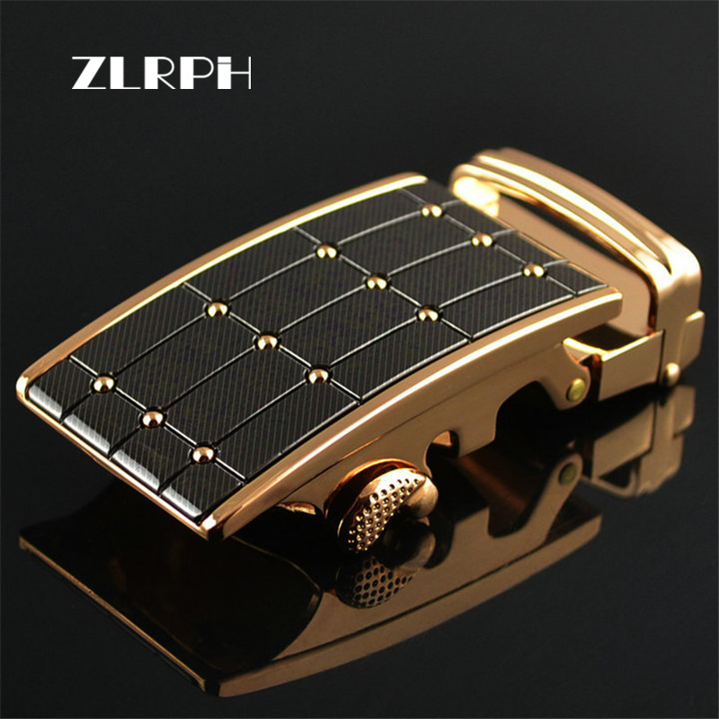 ZLRPH Fashion Designer Belts High Quality Alloy Buckle For Not Belt Body Sliding Buckle Ratchet Luxury Men Automatic Buckle