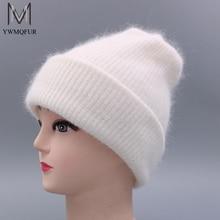 YWMQFUR Mujeres sombrero para el otoño invierno gorros de lana de punto de  moda sombreros 2017 e0bd529dba0