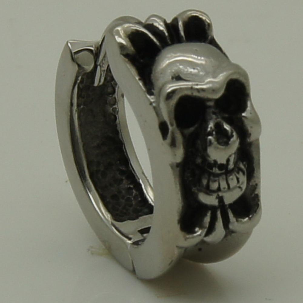 Men Jewelry Cool Skull Skeleton 316l Stainless Steel Boy S Hoop Earring Punk In Earrings From Accessories On Aliexpress Alibaba