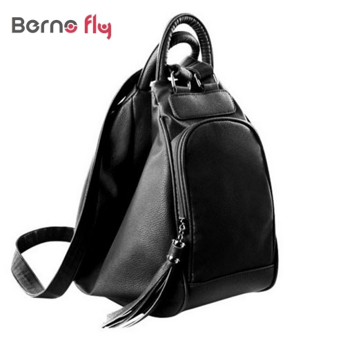 Fashion Tassel Women Leather Backpacks Casual Lady Backpack Travel Bag Campus Women Bag School Shoulder Bags Mochilas Feminina