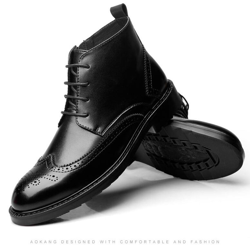 YIGER Genuine Leather Boots for Men 17