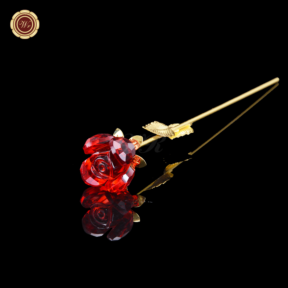 Aliexpress Com Buy Wr Romantic Rose 24k Gold Dipped: Popular Red Crystal Rose-Buy Cheap Red Crystal Rose Lots