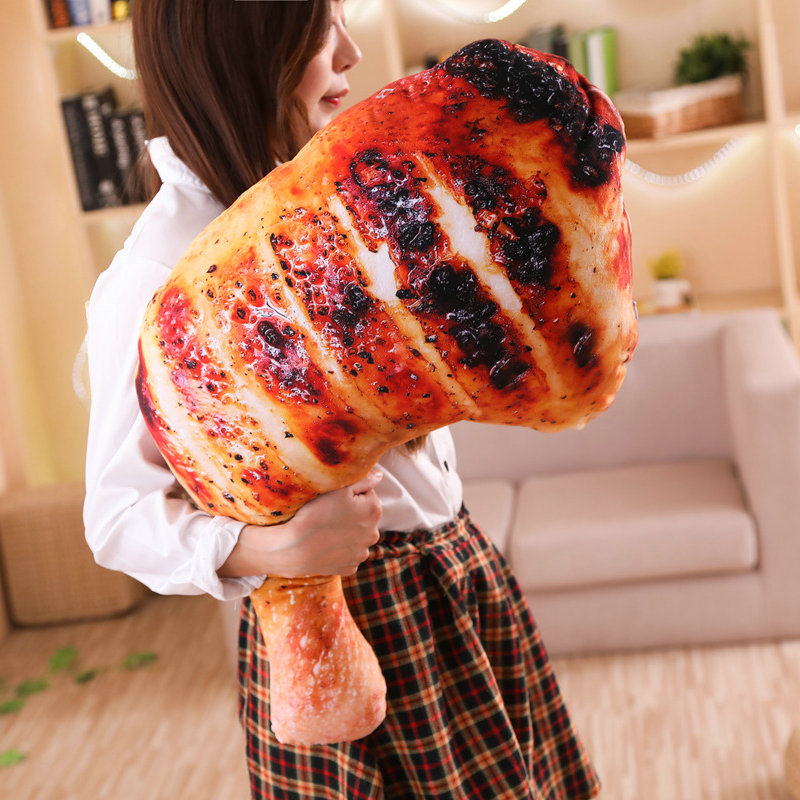 New Style Toys Cute Barbecue Food Toy  Baked Drumstick/Chicken Seafood Snack Toy Garden Chair Bench Decor Pillow Toy