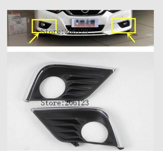 Free Shipping Chromed Front Fog Light Cover Trim For Nissan Teana Altima L33 2016 2017 2018 2 PCS
