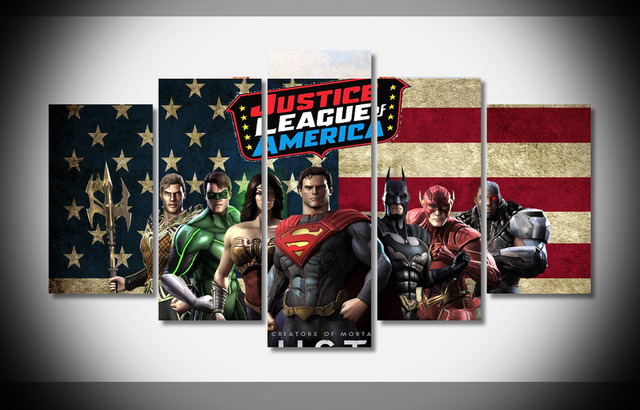 P1274 Justice League Poster Framed Gallery Wrap Art Print Home Wall Decor Picture Already To