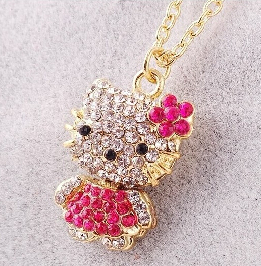 Hello Kitty Pendant ALP Detail Feedback Questions about Hesiod Charm 3 colors Fashion Kitty Pendant  Necklace Rhinestone Crystal Necklace For Women Gold Color Chain bijouterie  ...