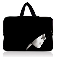 Black Hooded Lady 11 6 12 Laptop Sleeve Notebook Case Carrying Bag PC Handbag For Apple