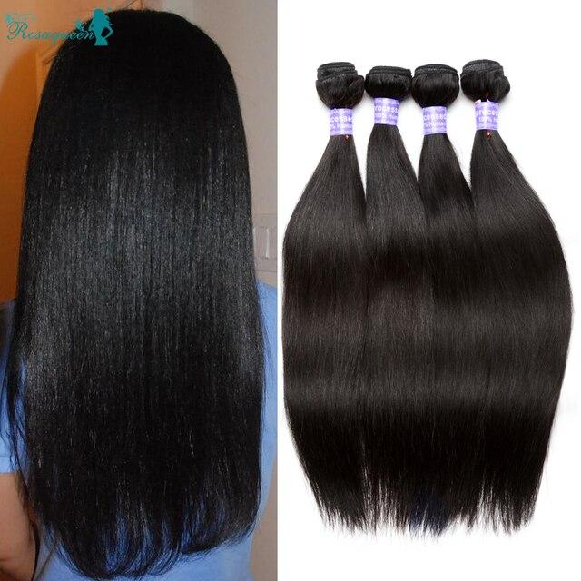 Peruvian Virgin Hair Straight 7A Peruvian Straight Virgin Hair 4 Bundles Rosa Queen Hair Products Peruvian Human Hair Extension