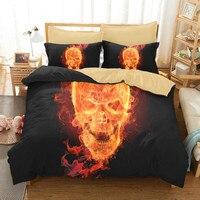2/3 Pcs Set Bed Sheet Set with Many New Designs Latest Design Sugar Skull 3d Bedding Set 3d Bed Set