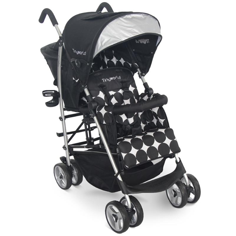 Tinyworld 12kg empat warna Light Twins keretapi bayi kerusi dua tempat tidur kereta bayi kereta bayi lipat keretapi stroller kembar kereta bayi