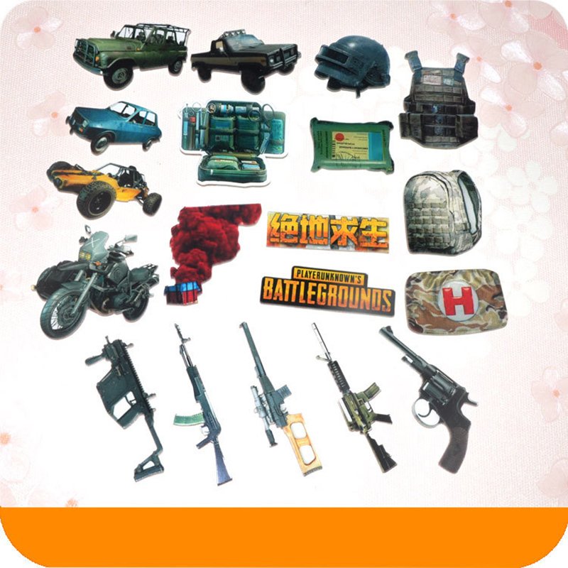 19 Types Game Playerunknown's Battlegrounds Badge Pubg Car Model Pin Survival Kit First-aid Packet Charm Gift Series 3 Drop-ship