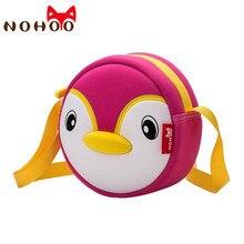 NOHOO Toddler Crossbody Bag 3D Penguin Children Shoulder Messenger Bags For Girls Waterproof Cartoon Handbag Kids Baby Small Bag