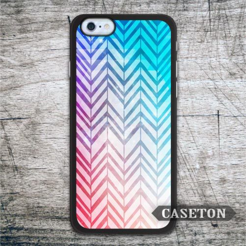 Abstract Blue and Red Chevron Case For iPhone 7 6 6s Plus 5 5s SE 5c and For iPod 5 High Quality Ultra Cover