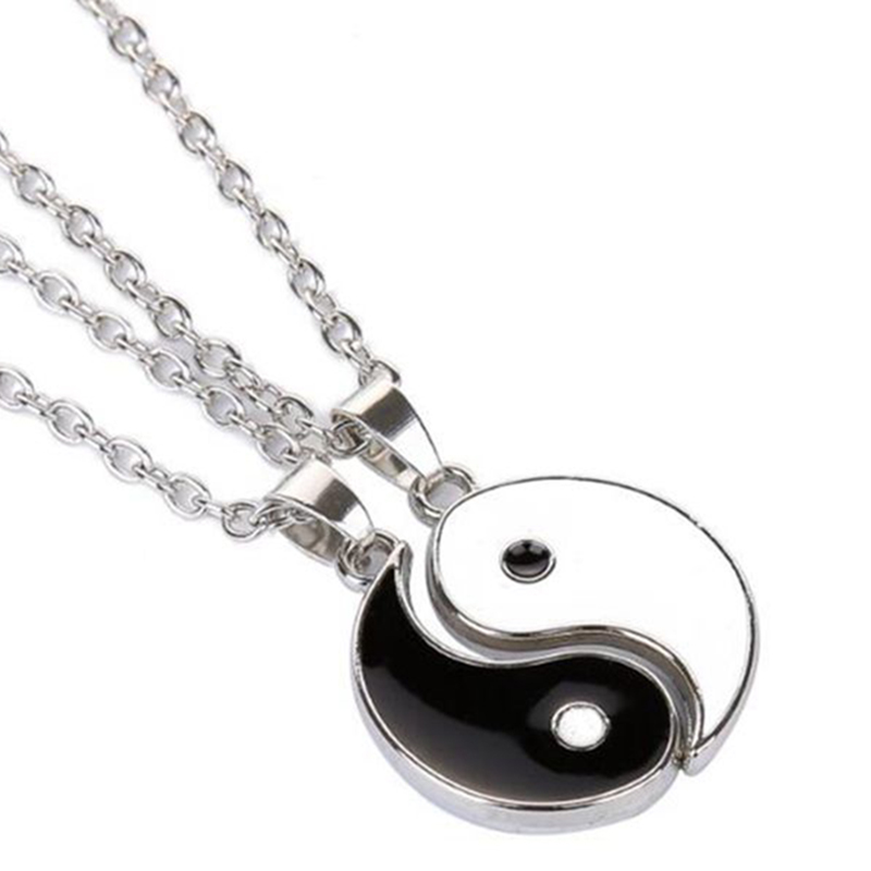 Yin Yang Pendant Necklace For Women Men Fashion Couples Matching Choker Best Friend Friendship Jewelry Gift Collar Witchcraft