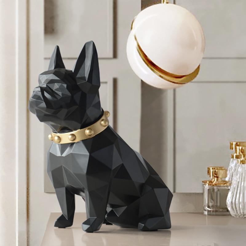 Estátua do cão Animal da Resina de Decoração Para Casa Artesanato ornamentos acessórios de decoração Estatueta Escultura de arte Moderna Para A casa Decoração do jardim