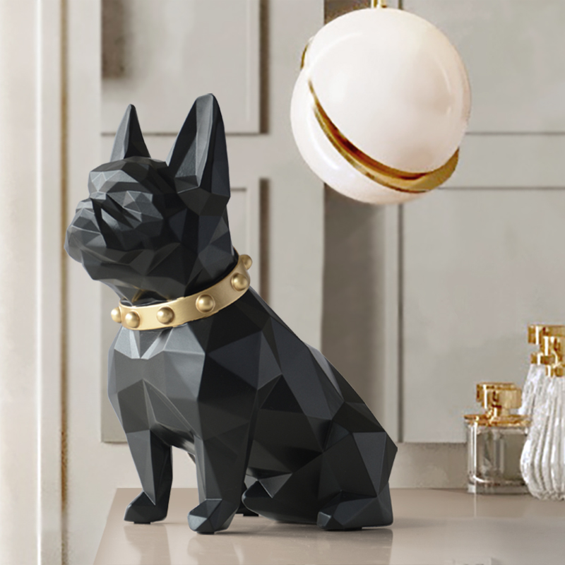 Sculpture en résine animale, Statue de chien, artisanat de décoration intérieure, Sculpture en résine animale, art moderne pour les ornements domestiques, accessoires de décoration de jardin de la Figurine