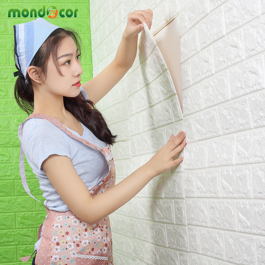 3D Wall Paper Modern Brick Pattern Home Decoration Wallpaper Self-adhesive Waterproof Stickers Bedroom Children Contact Paper