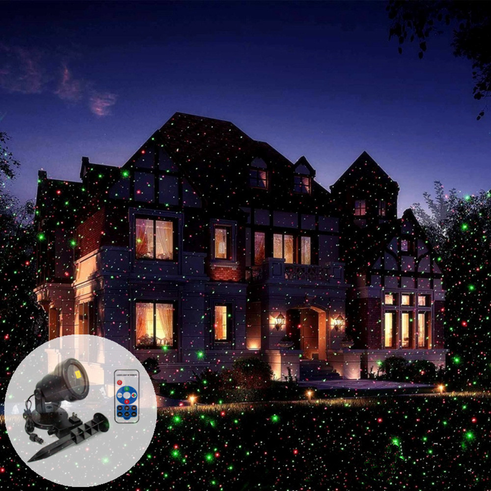 IP65 Wireless Control Laser Christmas Light Star Projector Waterproof For Seasonal Decorative Valentine Wedding Party Holiday