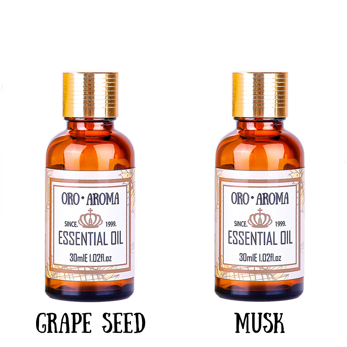 Famous brand oroaroma hair care set natural aromatherapy grape seed oil  musk essential oil Repair skin care Massage Oil 30ml*2
