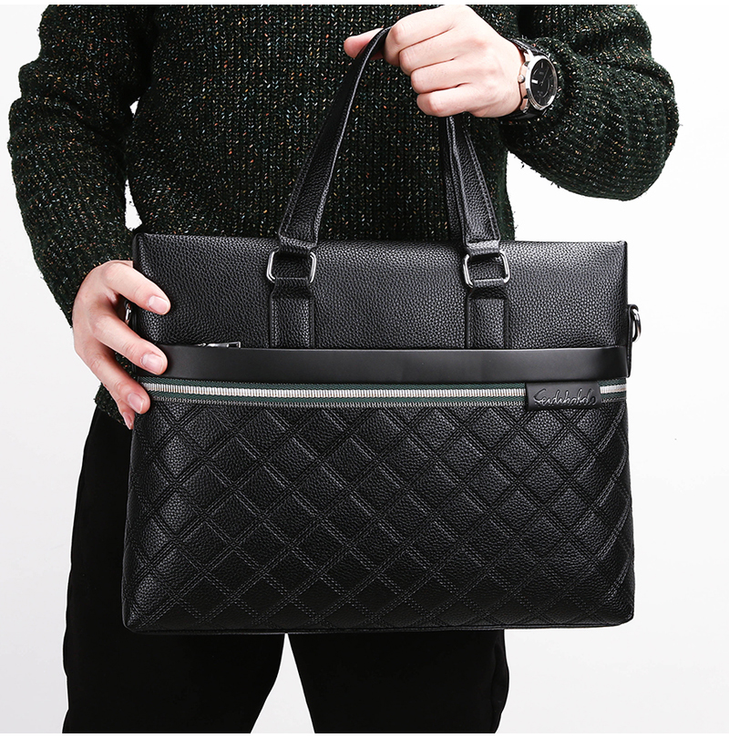 Classic Plaid Design Business Man Bag Vintage Brand Men's Messenger Bag Casual Business Male Shoulder Bags For Male bolsa Hot