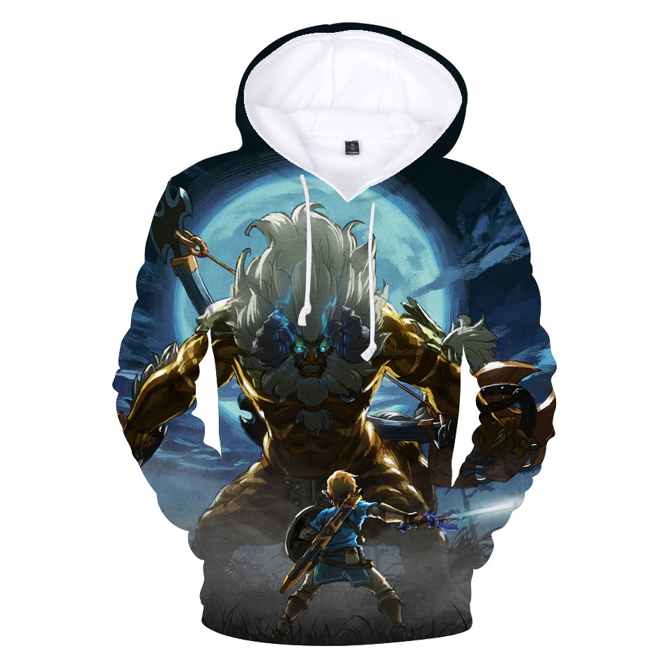 The Legend of Zelda: Breath of the Wild Game Series 3D Hoodies
