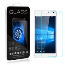 For Nokia Microsoft Lumia 650 Tempered Glass Display screen Protector 9H zero.26MM 2.5D Security Protecting Movie On Lumia650 Twin Sim