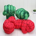 New Arrival 13'' Incredible Hulk Smash Hands or Spider Man Plush Gloves Performing Props Toys Set of 2pcs