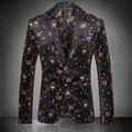 2016 Fashion Leisure Men's Printing Suit Jacket, Male Clothing han edition cultivate one's morality Personality Floral Suit